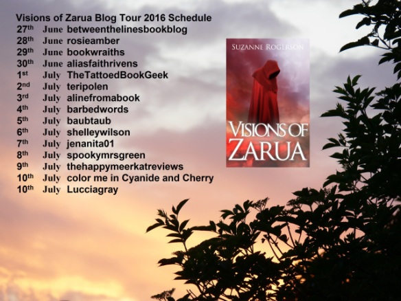 Visions of Zarua 2016 Blog Tour Schedule