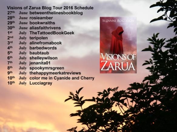 Visions of Zarua 2016 Blog Tour Schedule